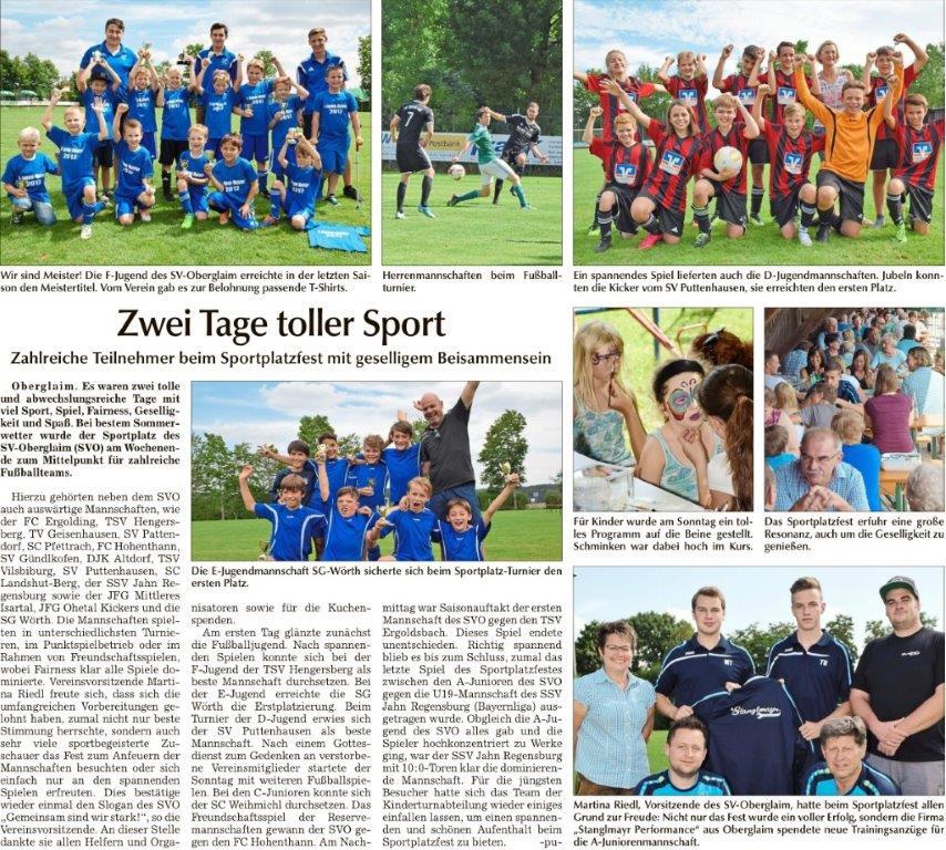 170803 Sportplatzfest Landshuter_Zeitung_Zwei_Tage_toller_Sport